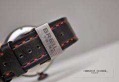 Handmade  Leather  Strap for  BREILTRIBE  Watch Hand crafted, hand stitched. Business inquiries & orders at: ~ c. Handmade Leather, Hand Stitching, Black Leather, Watches, Business, Red, Instagram, Wristwatches, Clocks