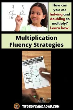 Multiplication fluency does not have to be elusive! Sure, students need to practice, memorize and understand the multiplication facts. But that doesn't always achieve fluency with the facts. You also need to teach students multiplication strategies such as halving and doubling. The multiplication strategies help students when they just can't recall or remember the facts. Discover and learn more about how to teach these strategies! #twoboysandadad Multiplication Activities, Multiplication And Division, Teaching Numbers, Teaching Math, Math Tips, Common Core Math, Number Sense, Elementary Teacher, How To Memorize Things