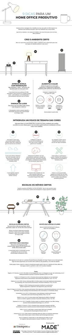 Trabalhar em casa é ótimo... quando você realmente trabalha. Confira nove dicas simples para criar um home office produtivo.
