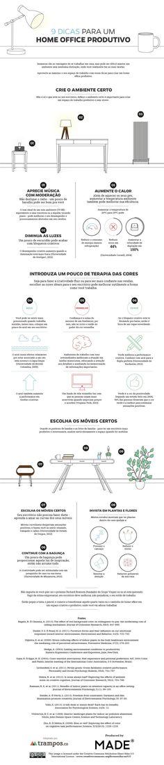 Infográfico: 9 dicas para um home office produtivo