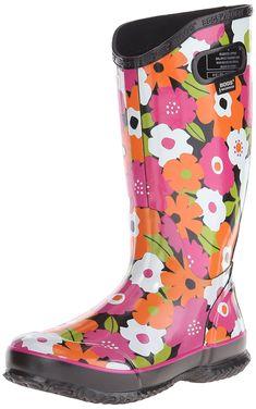 6481f81644c8 Women s Rain Boot Spring Flowers Rain Boot - Black Multi - CN121PAOC2B -  Women s Shoes