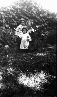 Lucy Maud Montgomery with Stuart & Chester, ca. 1917