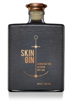 Skin-Gin_Anthracite-Bottle  German dry gin. mint and grapefruit brilliant with tonic and orange rind