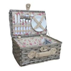 Get ready for summer with this range of top quality contemporary and traditional willow products, including hampers, wicker drinks baskets, gift baskets and storage baskets inspired by country Person Garden Rose Chilled Hamper Cutlery Storage, Storage Baskets, Gift Baskets, Wicker Picnic Basket, Picnic Hampers, Chill Bag, Hamper Basket, Forks And Spoons, Retirement Gifts