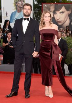 Festival jury member Diane Kruger in BOSS (with Joshua Jackson) at the premiere of 'Black Mass' at the 2015 Venice Film Festival.