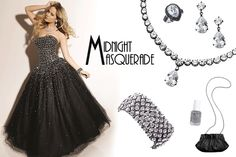 The Midnight Masquerade prom look, featuring Park Lane jewelry! Ask me how to get the bling for FREE, or order online at www.myparklane.com/sbell