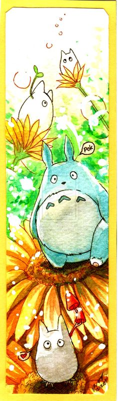 Totoro Bookmark by ~ipmaster on deviantART