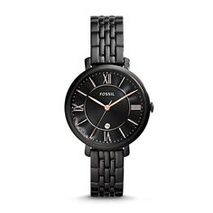 Jacqueline Black Stainless Steel Watch