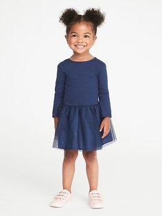 Scoop-Back Tutu Dress for Toddler Girls