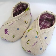 Trimmed Kimono Baby Booties Pattern