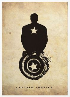 Captain America (Silhouette Superhero poster) | By: Poster Inspired