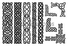 Celtic patterns and celtic ornament corners - Stock Illustration: 63504705