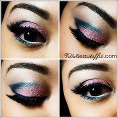 Pink/Teal Edgy Eye