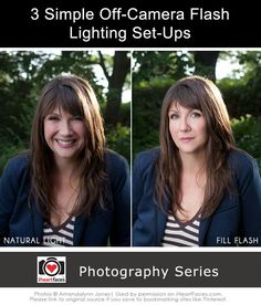 3 Simple Off-Camera Flash Lighting Set-Ups via Amandalynn Jones and iHeartFaces.com
