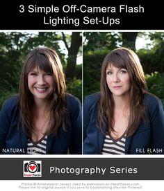 3 Simple Off-Camera Flash Lighting Set-Ups {Photography Series}