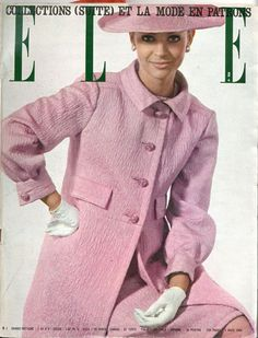 Elle n°950 du 6 mars 1964, redingote sur robe fourreau de Christian Dior, photo Fouli Elia