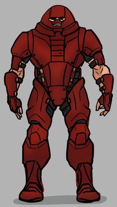 The Juggernaut (Comics) Quick Redesign Marvel And Dc Characters, Marvel Villains, Marvel Comic Character, Man Character, Character Design, Marvel Comics Art, Anime Comics, Marvel Dc, Juggernaut Marvel