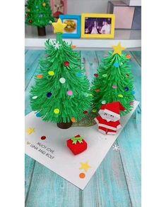 Christmas Ornament Crafts, Christmas Crafts For Kids, Diy Christmas Gifts, Xmas Crafts, Halloween Crafts, Diy Paper Christmas Tree, Christmas Art Projects, Santa Crafts, Christmas Origami