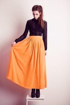 Shop this look on Kaleidoscope (top, skirt, bootie)  http://kalei.do/Vsw2HDGrsw5k6F96