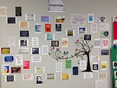 Quote wall in my classroom- throughout the school year my students and I hang quotes that are inspiring, funny, or that we discover in our reading. Sometimes student work makes it on the wall. At the end of the year each student got to choose something from the wall to take home and keep.