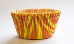 Zebra Cupcake Cases Orange Small 1000pcs