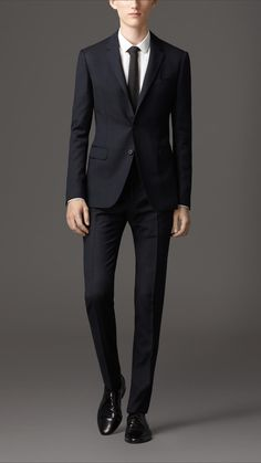 Travel Tailoring Wool Birdseye Suit | Burberry