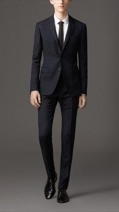 Travel Tailoring Wool Birdseye Suit | Burberry