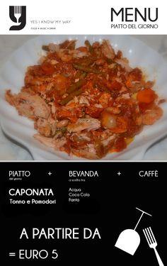RIstorante Battipaglia aperto a pranzo - Caponata tonno e pomodori menu a partire da € 5.00