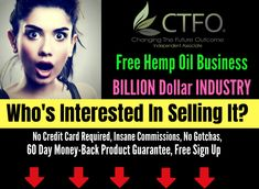 CTFO- If you pass this up, you're crazy Totally FREE home-based business opportunity! You can take a FREE position with NEW hot CBD (Cannabidiol) Product Line. CBD oils, vapes & more are so popular right now! Marketing Program, Affiliate Marketing, Way To Make Money, How To Make, Legitimate Work From Home, Home Based Business, Hemp Oil, Earn Money Online, Online Work