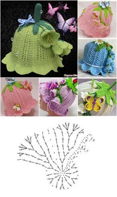 Crochet Bedspread Pattern, Crochet Stitches Patterns, Crochet Motif, Crochet Designs, Knit Crochet, Easy Crochet Hat, Crochet Kids Hats, Baby Hats Knitting, Crochet Girls