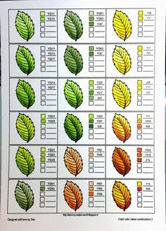 Coloring nature with Copics - leaves