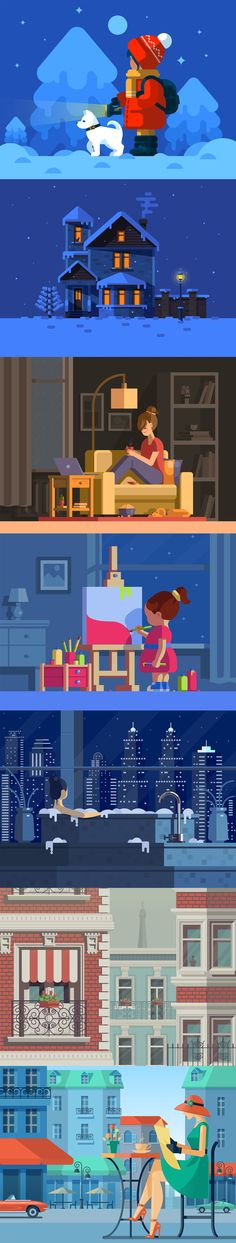 Collection of Illustrations on Behance