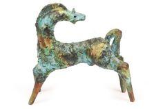 Italian Ceramic Horse Sculpture   1950's