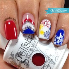 Chickettes.com 4th of July nails