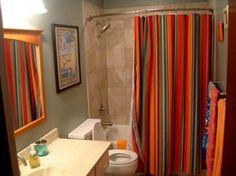 http://www.bebarang.com/unique-long-shower-curtains/ Unique Long Shower Curtains : Colorful Extra Long Shower Curtain