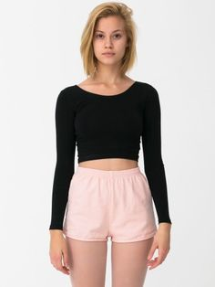 High-Waist Denim Short #AmericanApparel #PinatripwithAA