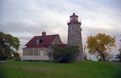 Windmill Point Lighthouse, located on the east side of northern Lake Champlain, Alburg, Vermont