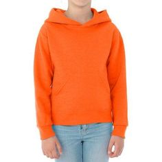 Jerzees Boys' Pill-Resistant Performance Fleece Pullover Hoodie, Size: Small, Orange