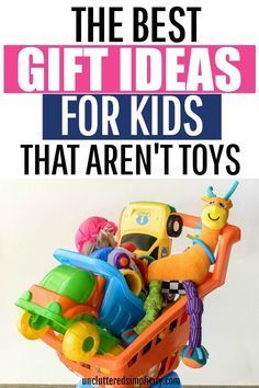 The Best Gift Ideas For Kids That Aren't Toys. Check out this huge list of clutter free gifts for kids for some holiday inspiration! gift for kids 101 Gift Ideas For Kids That Aren't Toys: Non-Toy Gift Ideas Non Toy Gifts, Craft Gifts, Baby Gifts, Baby Presents, Mom Gifts, Toddler Gifts, Gifts For Boys, Gifts For Family, Unique Gifts For Kids