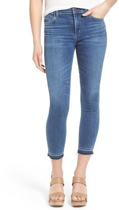 Citizens Of Humanity 'Rocket' High Rise Released Hem Crop Skinny Jeans (Harbor)