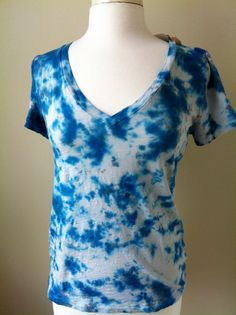 Navy and Gray Funky Tie Dyed Tshirt.