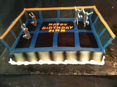 catch air  sky zone cake  dawnbakescakes.com May Birthday, 3rd Birthday Parties, Birthday Cake, Birthday Ideas, Trampoline Cake, Sky Zone, Party Cakes, Party Planning, Things That Bounce