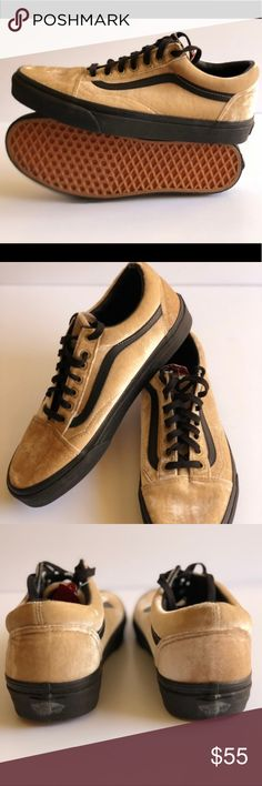 538b3cd25d3fdc Vans Classic Velvet Old Skool Tan Black · Skate ShoesVans ...