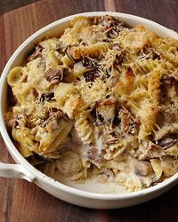 Cheesy Mixed Pasta Casserole with Mushrooms Recipe on Food & Wine
