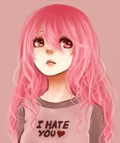 Imagem de anime, girl, and pink hair