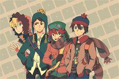 Kenny, Craig, Kyle, & Stan ~ teens