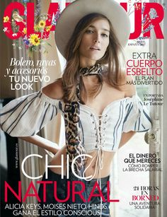 """ Charming Rock"" story in Glamour Spain with Joséphine Le Tutour"