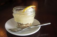 Individual lemon icebox pies in Mason jars #gluten_free #sugar_free #low_carb #dessert
