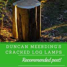 duncan meerdings cracked log lamps