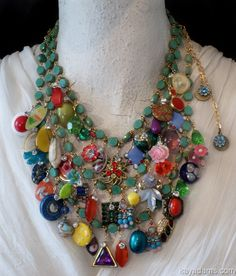 A2721 Kay Adams jewelry made with vintage pieces is just so wonderful!